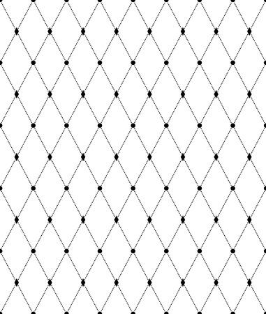 Geometrisches Schwarzweiss-nahtloses Muster mit Linie und Diamant. Zusammenfassung Hintergrund. Vektor nahtlose Muster. Vektorgrafik