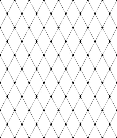 Black and white geometric seamless pattern with line and diamond. Abstract background. Vector seamless pattern.