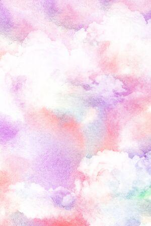 Résumé illustration d'aquarelle du cloud. Aquarelle sur papier sur le papier. Illustration d'aquarelle du ciel. Abstract background.