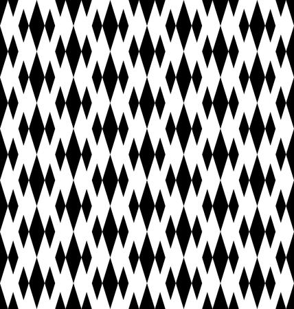 Geometrisches Schwarzweiss-nahtloses Muster mit Diamanten. Zusammenfassung Hintergrund. Vektor nahtlose Muster.