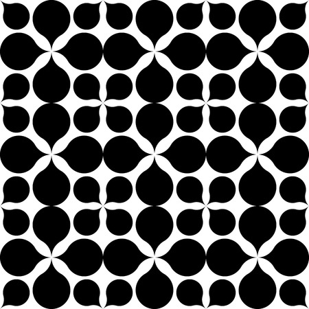 repetition: Black and white geometric seamless pattern. Abstract background. Vector seamless pattern.