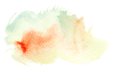 Abstract watercolor brush stroke illustration. Watercolor painting on paper. Abstract background. Stock Photo
