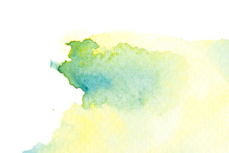 Abstract watercolor brush stroke illustration. Watercolor painting on paper. Abstract background. Standard-Bild