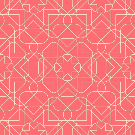 round corner: Geometric seamless pattern background with line and round corner rectangle. Abstract background. Vector seamless pattern illustration.
