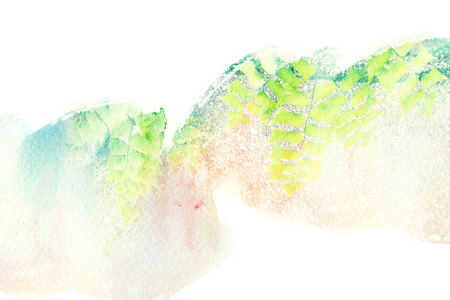 Abstract watercolor illustration. Watercolor painting on paper. Abstract background. Stock Photo