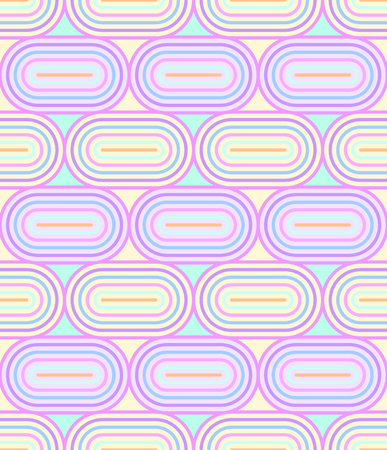 oval shape: Geometric seamless pattern background with line and oval shape.