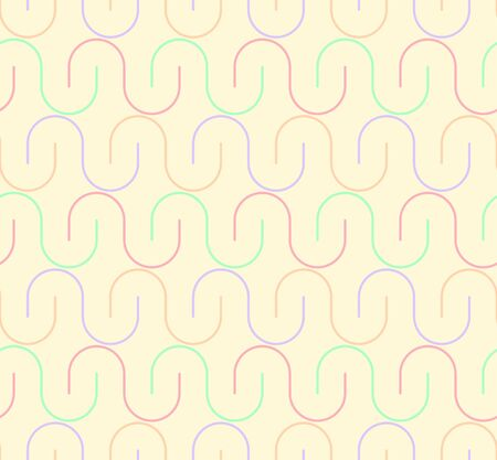 curved line: Geometric seamless pattern background with curved line. Abstract background. Vector seamless pattern illustration.