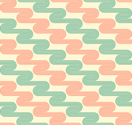 geschwungene linie: Geometric seamless pattern background with curved line. Abstract background. Vector seamless pattern illustration.