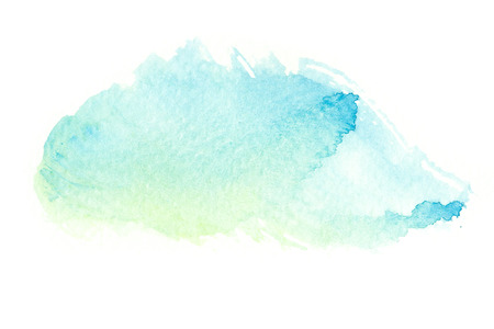 Abstract watercolor brush stroke illustration. Watercolor painting on paper. Abstract background. Imagens