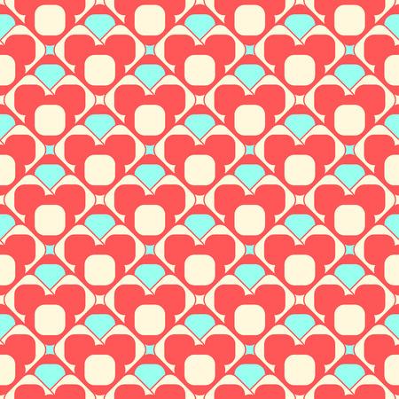 round corner: Geometric seamless pattern background  with round corner square. Abstract background. seamless pattern illustration. Illustration