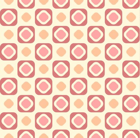 round corner: Geometric seamless pattern background  with round corner square. Abstract background. Vector seamless pattern illustration.