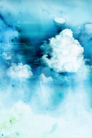 raincloud: Abstract watercolor illustration of raincloud. Watercolor illustration of sky. Abstract background.