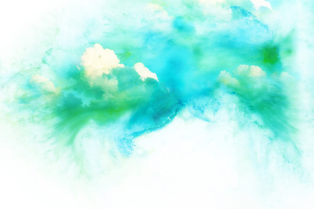 raincloud: Abstract watercolor illustration of cloud. Watercolor illustration of sky. Abstract background.