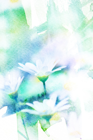 aquarell: Abstract watercolor illustration of blossom flower. Watercolor painting. Floral watercolor illustration.