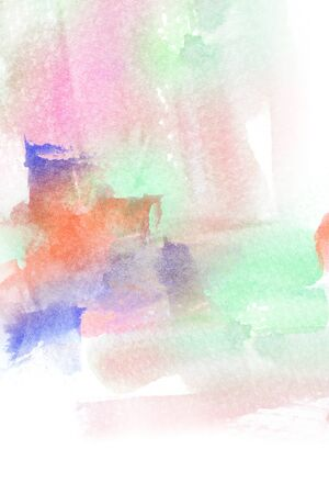 aquarell: Abstract colorful watercolor brush stroke illustration. Watercolor painting on paper. Abstract background.