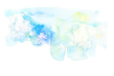 nimbus: Abstract watercolor illustration of cloud. Watercolor illustration of sky. Abstract background.