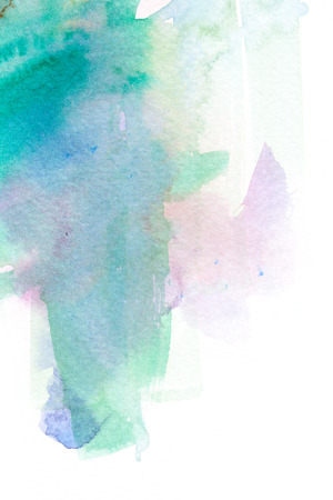 arty: Abstract watercolor brush stroke illustration. Watercolor painting on paper. Abstract background. Stock Photo
