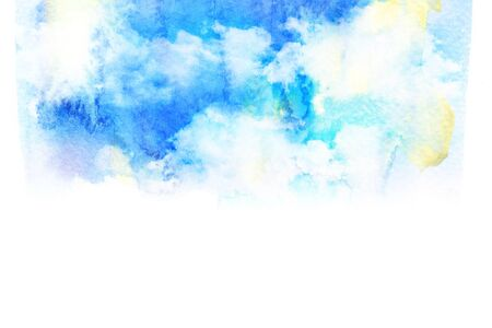 clouds blue sky: Abstract watercolor illustration of cloud. Watercolor illustration of sky. Abstract background.