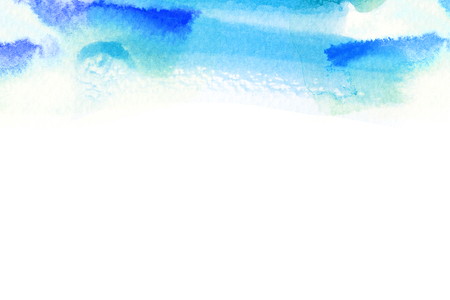 aquarell: Abstract watercolor brush stroke illustration on paper. Artistic painting background. Stock Photo