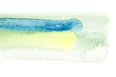 Abstract watercolor brush stroke illustration on paper. Artistic painting background. Stock Photo