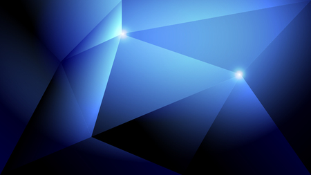 Abstract dark blue light and shade creative polygonal