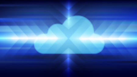 Cloud computing technology concept abstract background. Vector illustration.