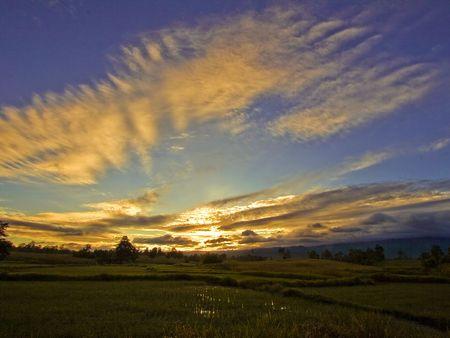 Sunrise at Nakhon Thai Phitsanulok Thailand