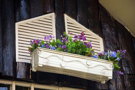 gable: Flower in a gable