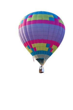 Colourful balloon in a white background.