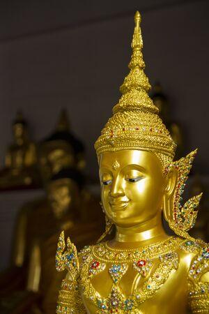 gloden: Gloden Buhdha in Thailand temple.