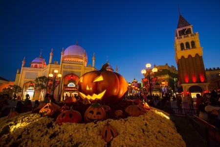 October 24. 2012 South Korea. Everland in twilight time.