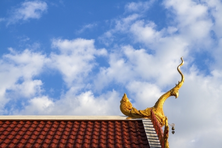 Thai temple roof of Thailand. photo