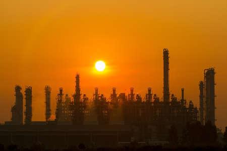 hazardous waste: Silhouette illustration of a factory Stock Photo