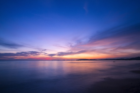 Amazing sunset form thailand beach Banco de Imagens