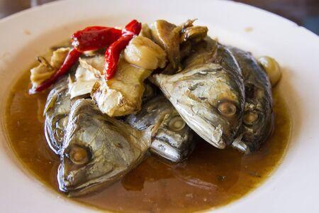 farci: Mackerel in sweet sauce. Thai food.