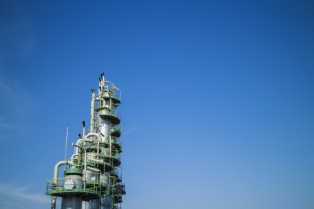 Column tower in petrochemical plant photo
