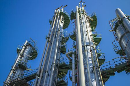 Column tower in petrochemical plant