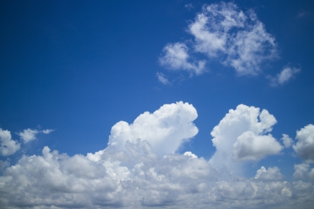 white clouds over blue sky.nature background.