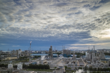 Petrochemical plant and cloud scape