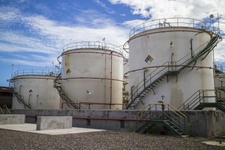 Storage tank in chemical industrial