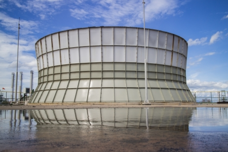 industrail: Industrail cooling tower in blue sky