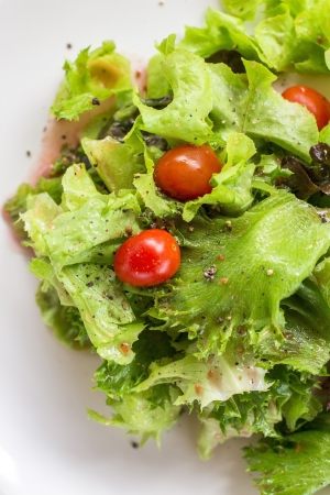 Healthy salad isolated on white   Stock Photo