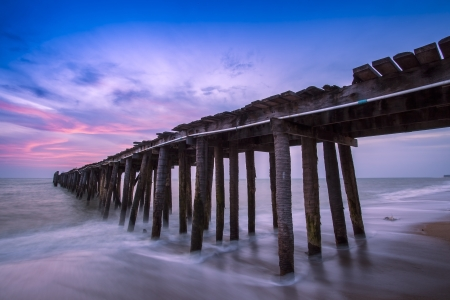 pier in amazing sunrise