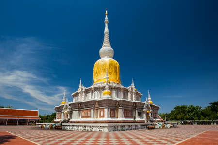 Nadoon Stupa  A stupa contained relics of buddha  Located at Maha-Sarakham Province in northeast of Thailand  A most inportance place  Stock Photo