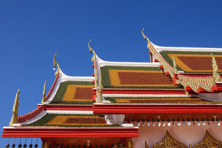 Art and detail on thai temple roof. photo