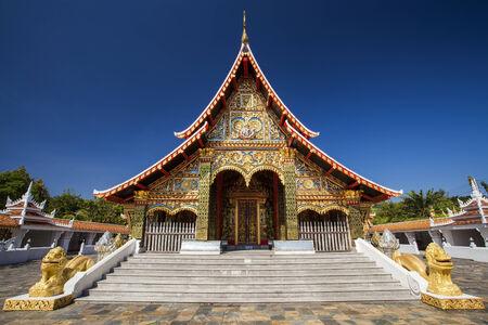 Beautiful thai north east style temple. photo