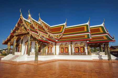 Wat Phra That Chorng Chum is favorite temple in north east of thailand. photo