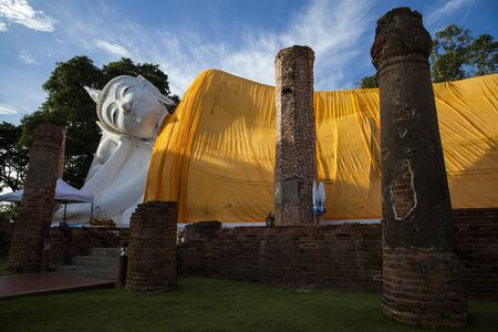 longest: Wat Khun Inthapramun is ancient temple in Angthong, Thailand that was constructed during Sukhothai period. The highlight is largest and longest reclining Buddha statue in Thailand.