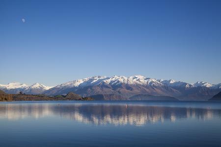 famous place: The famous place Lake Wanaka, South Island of New Zealand. Stock Photo