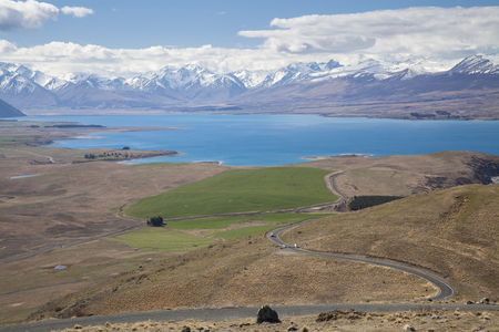 Landscapes viewed from Tekapo observatory, New Zealand